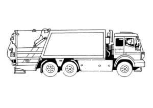 мусоровоз с водителем