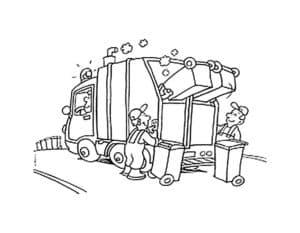 мусоровоз и грузчики мусора
