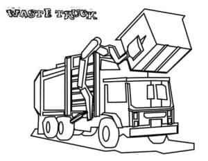 мусоровоз поднимает мусорный бак