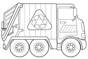 маленький мусоровоз со знаком
