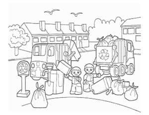 дети убирают мусор