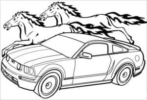 Мустанг и лошади