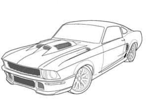 Форд Мустанг раскраска