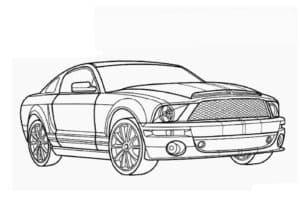 Машина Мустанг раскраска