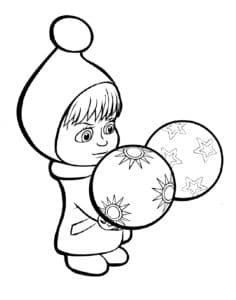 Маша с шариками