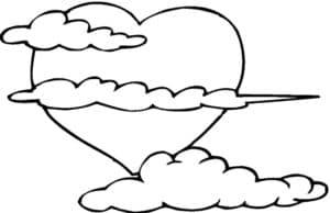 Сердечко и облако