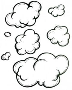 большие облака раскраска
