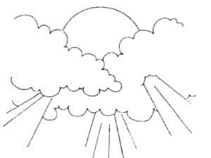 Лучи солнца пробиваются через облака