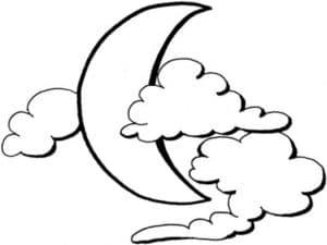 Луна и облака