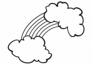 Радуга и облака