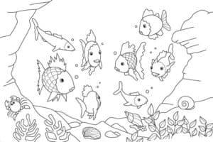детская раскраска океан