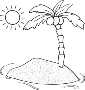 пальма и солнце