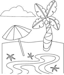 зонтик и пальма