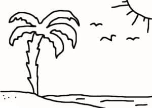 пальма и чайки