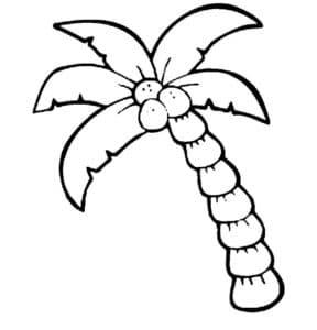 трафарет пальмы