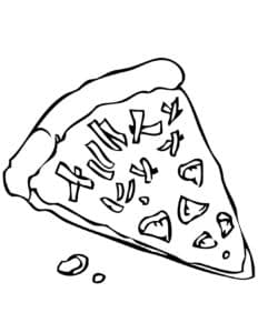 кусочек пиццы детская раскраска