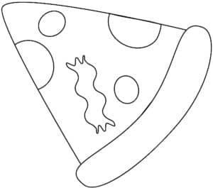 кусочек пиццы с сыром