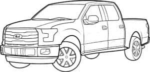 автомобиль пикап раскраска для ребенка