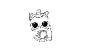 Маленький котик куклы лол