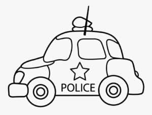 Машина полиции раскраска детская