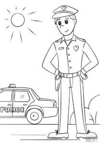 Полицейский в фуражке