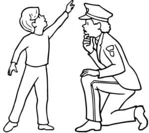 Полицейский и ребенок