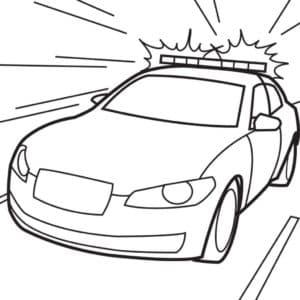 Машина с включенной сиреной
