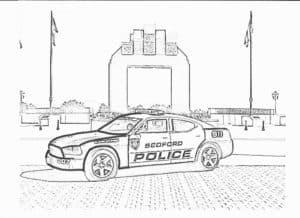 Машина полиция на площади