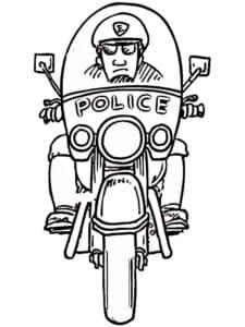 Полиция на служебном мотоцикле