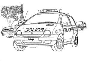 Машина полиции раскраска