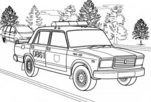 Жигули машина полиции