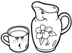 живая чашка и кувшин