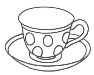 чашка с кружочками