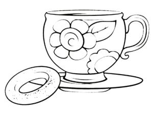 Чашка с цветочком и сушка