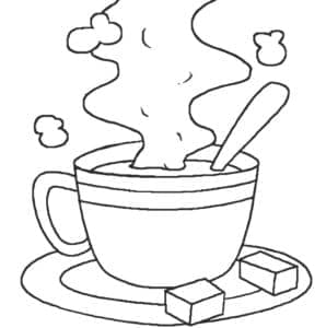 чашка с чаем и сахар