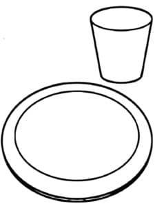 тарелка и стакан