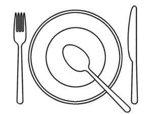 тарелка ложка вилка и нож