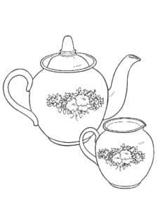 чайник и ваза с узорами