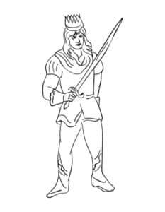 принц с короной и мечом