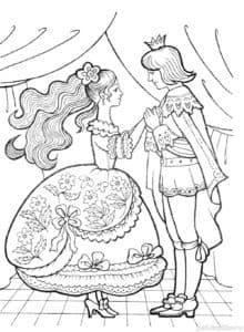принц с принцессой раскраска антистресс