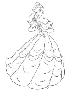Белль в платье
