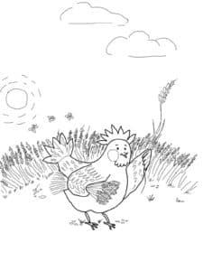 пшеница и курица