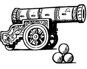 Пушка и ядра