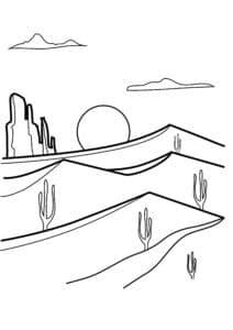 раскраска пустыня