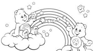 медвежата на облаке и звездочки