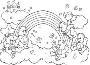 медвежата замок и радуга
