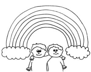 дети под радугой картинка