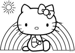 Котик и радуга