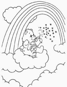 Медвежонок с мыльными пузырями