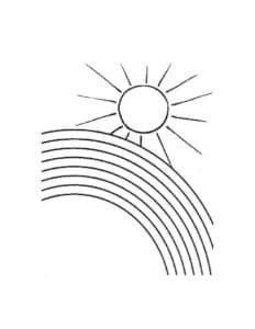 Кусочек радуги и солнце